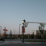 roadway lighting bucket truck