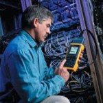 data cabling guy with meter